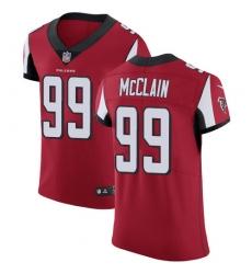 Men's Nike Atlanta Falcons #99 Terrell McClain Red Team Color Vapor Untouchable Elite Player NFL Jersey