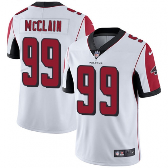 Men's Nike Atlanta Falcons #99 Terrell McClain White Vapor Untouchable Limited Player NFL Jersey