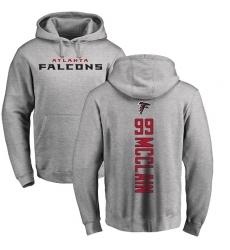 NFL Nike Atlanta Falcons #99 Terrell McClain Ash Backer Pullover Hoodie