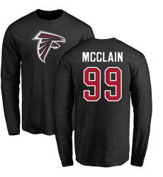 NFL Nike Atlanta Falcons #99 Terrell McClain Black Name & Number Logo Long Sleeve T-Shirt