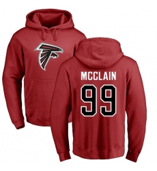 NFL Nike Atlanta Falcons #99 Terrell McClain Red Name & Number Logo Pullover Hoodie