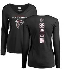 NFL Women's Nike Atlanta Falcons #99 Terrell McClain Black Backer Long Sleeve T-Shirt