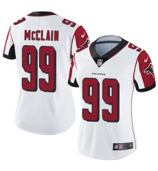 Women Nike Atlanta Falcons #99 Terrell McClain White Vapor Untouchable Limited Player NFL Jersey