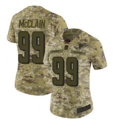 Women's Nike Atlanta Falcons #99 Terrell McClain Limited Camo 2018 Salute to Service NFL Jersey
