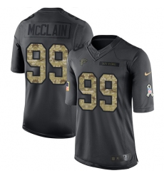 Youth Nike Atlanta Falcons #99 Terrell McClain Limited Black 2016 Salute to Service NFL Jersey