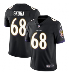Men's Nike Baltimore Ravens #68 Matt Skura Black Alternate Vapor Untouchable Limited Player NFL Jersey