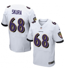 Men's Nike Baltimore Ravens #68 Matt Skura Elite White NFL Jersey