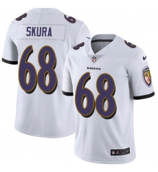 Men's Nike Baltimore Ravens #68 Matt Skura White Vapor Untouchable Limited Player NFL Jersey