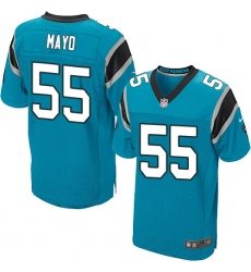 Men's Nike Carolina Panthers #55 David Mayo Elite Blue Alternate NFL Jersey