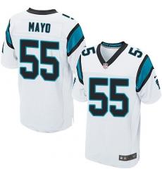 Men's Nike Carolina Panthers #55 David Mayo Elite White NFL Jersey
