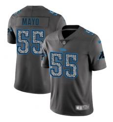 Men's Nike Carolina Panthers #55 David Mayo Gray Static Vapor Untouchable Limited NFL Jersey