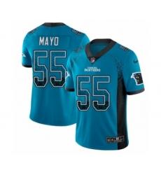 Men's Nike Carolina Panthers #55 David Mayo Limited Blue Rush Drift Fashion NFL Jersey