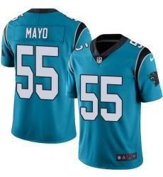 Men's Nike Carolina Panthers #55 David Mayo Limited Blue Rush Vapor Untouchable NFL Jersey