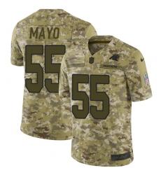 Men's Nike Carolina Panthers #55 David Mayo Limited Camo 2018 Salute to Service NFL Jersey