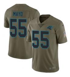 Men's Nike Carolina Panthers #55 David Mayo Limited Olive 2017 Salute to Service NFL Jersey