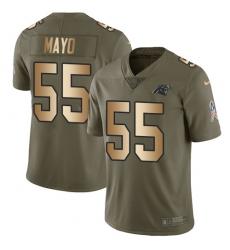 Men's Nike Carolina Panthers #55 David Mayo Limited Olive Gold 2017 Salute to Service NFL Jersey