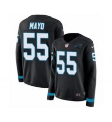 Women's Nike Carolina Panthers #55 David Mayo Limited Black Therma Long Sleeve NFL Jersey