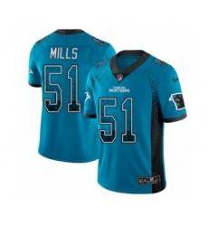 Youth Nike Carolina Panthers #55 David Mayo Limited Black Therma Long Sleeve NFL Jersey