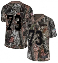 Men's Nike Carolina Panthers #73 Greg Van Roten Camo Rush Realtree Limited NFL Jersey