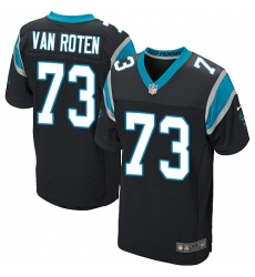 Men's Nike Carolina Panthers #73 Greg Van Roten Elite Black Team Color NFL Jersey