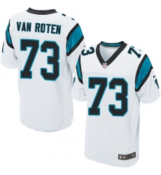 Men's Nike Carolina Panthers #73 Greg Van Roten Elite White NFL Jersey