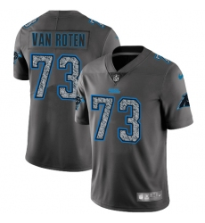 Men's Nike Carolina Panthers #73 Greg Van Roten Gray Static Vapor Untouchable Limited NFL Jersey