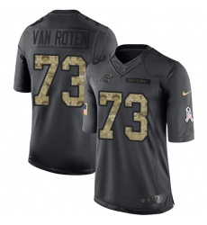 Men's Nike Carolina Panthers #73 Greg Van Roten Limited Black 2016 Salute to Service NFL Jersey
