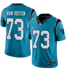 Men's Nike Carolina Panthers #73 Greg Van Roten Limited Blue Rush Vapor Untouchable NFL Jersey