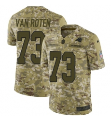 Men's Nike Carolina Panthers #73 Greg Van Roten Limited Camo 2018 Salute to Service NFL Jersey
