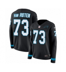 Women's Nike Carolina Panthers #73 Greg Van Roten Limited Black Therma Long Sleeve NFL Jersey