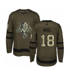Men's Florida Panthers #18 Serron Noel Authentic Green Salute to Service Hockey Jersey