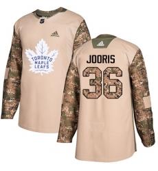 Men's Adidas Toronto Maple Leafs #36 Josh Jooris Authentic Camo Veterans Day Practice NHL Jersey