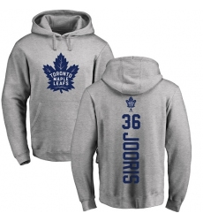 NHL Adidas Toronto Maple Leafs #36 Josh Jooris Ash Backer Pullover Hoodie