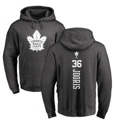 NHL Adidas Toronto Maple Leafs #36 Josh Jooris Charcoal One Color Backer Pullover Hoodie