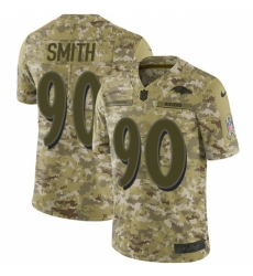 Men's Nike Baltimore Ravens #90 Za Darius Smith Limited Camo 2018 Salute to Service NFL Jersey