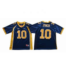 California Golden Bears 10 Marshawn Lynch Navy College Football Jersey