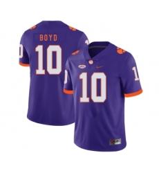 Clemson Tigers 10 Tajh Boyd Purple Nike College Football Jersey