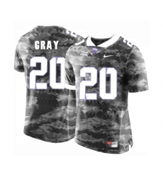 TCU Horned Frogs 20 Deante Gray Gray College Football Limited Jersey