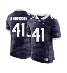 TCU Horned Frogs 41 Jonathan Anderson Purple College Football Limited Jersey