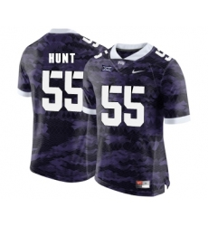 TCU Horned Frogs 55 Joey Hunt Purple College Football Limited Jersey