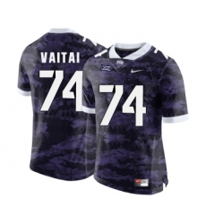 TCU Horned Frogs 74 Halapoulivaati Vaitai Purple College Football Limited Jersey