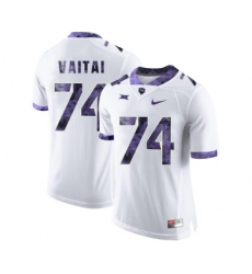 TCU Horned Frogs 74 Halapoulivaati Vaitai White Print College Football Limited Jersey2
