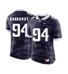 TCU Horned Frogs 94 Josh Carraway Purple College Football Limited Jersey