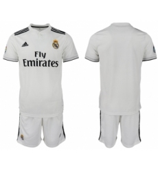 2018-19 Real Madrid Home Soccer Jersey
