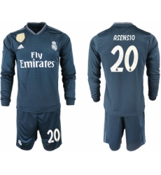 2018-19 Real Madrid 20 ASENSIO Away Long Sleeve Soccer Jersey