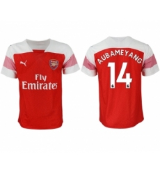 2018-19 Arsenal 14 AUBAMEYANG Home Thailand Soccer Jersey