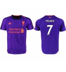 2018-19 Liverpool 7 MILNER Third Away Thailand Soccer Jersey