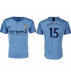 2018-19 Manchester City 15 MANGALA Home Thailand Soccer Jersey
