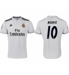2018-19 Real Madrid 10 MODRIC Home Thailand Soccer Jersey