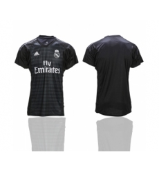 2018-19 Real Madrid Black Goalkeeper Thailand Soccer Jersey
